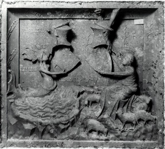 Relief with Allegory Featuring a Mermaid and Shepherdess