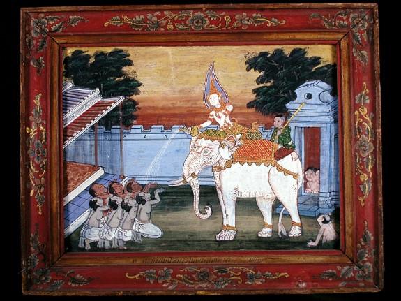 Vessantara Jataka, Chapter 2: Kalinga Brahmins are Given the White Elephant