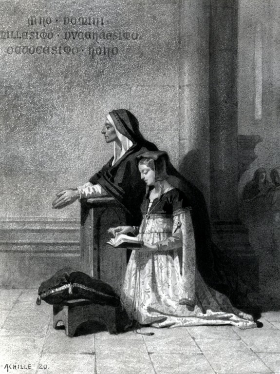 Marguerite in Church Listening to the Dies Irae