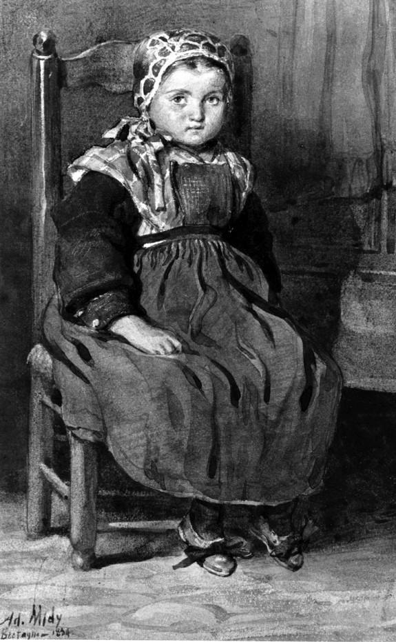 Little Breton Peasant Girl