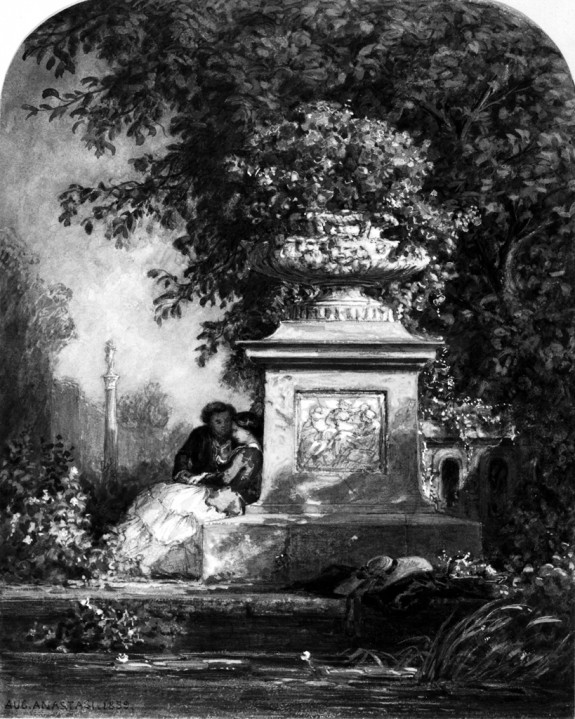 Courting in a Garden