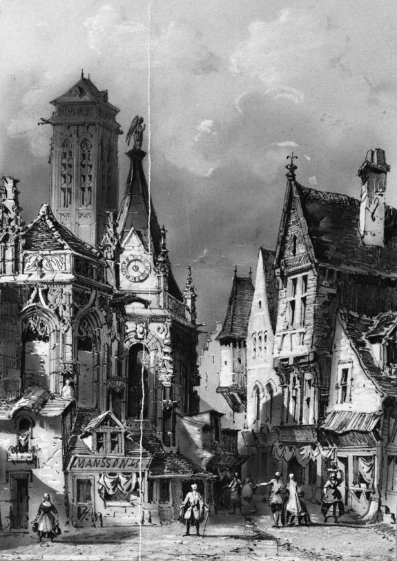 Street Scene with Gothic Buildings