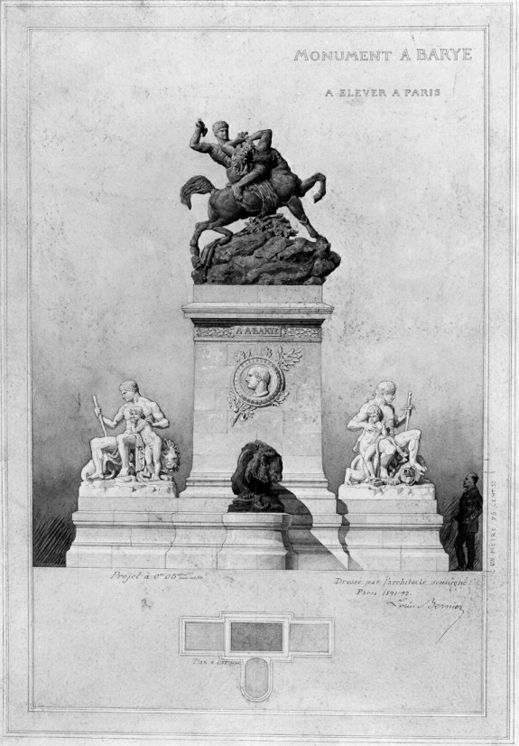 Project for a Monument to Barye, Paris
