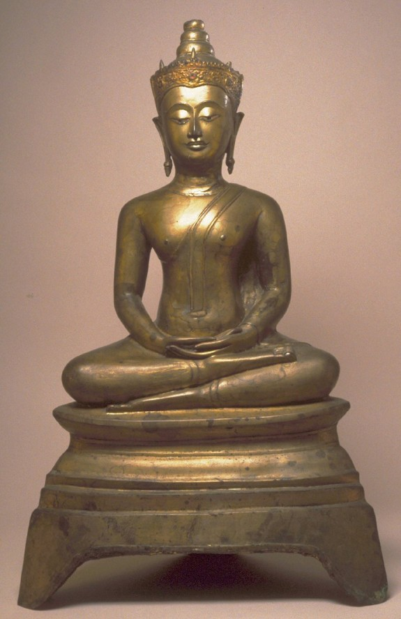Seated Crowned Buddha, in Meditation