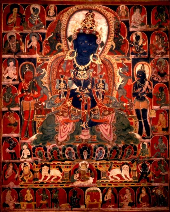 Vajradhara with Mahasiddhas