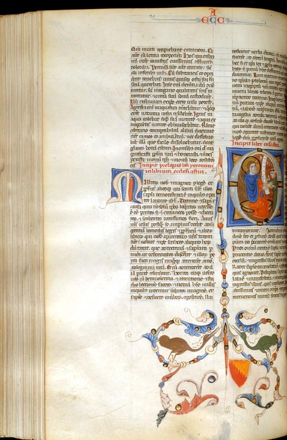 Leaf from Bentivoglio Bible