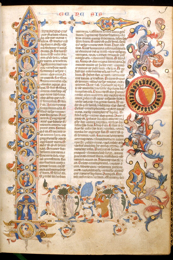 Initial I with Creation Scenes