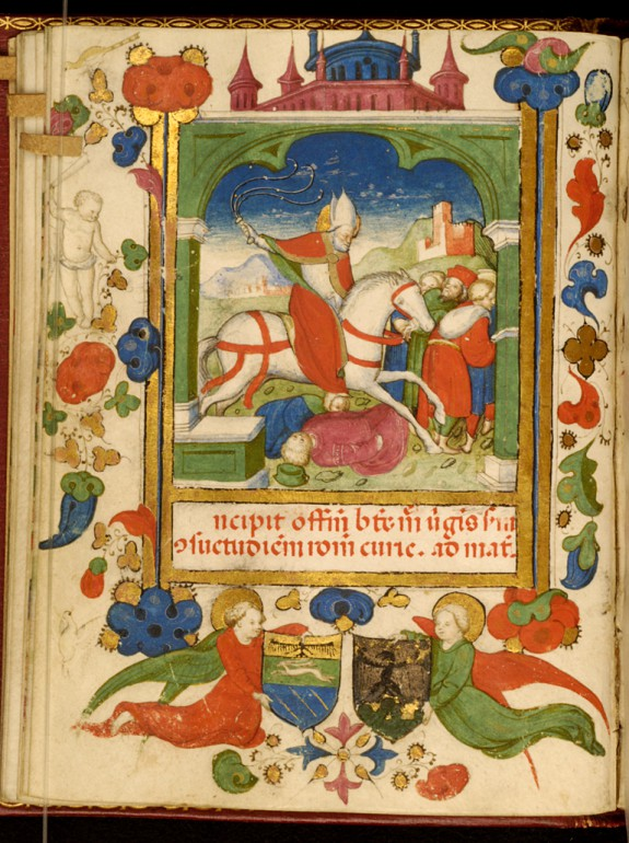 Leaf from Barbavara Book of Hours