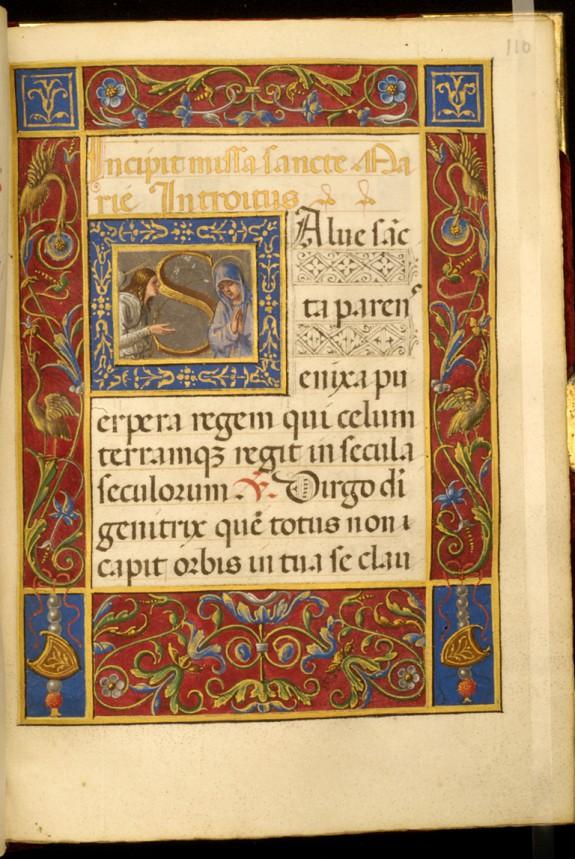 Leaf from Rangoni Bentivoglio Book of Hours