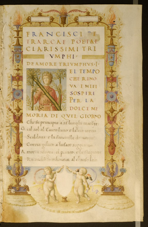 """Portrait of Petrarch in the Incipit Letter """"N"""""""