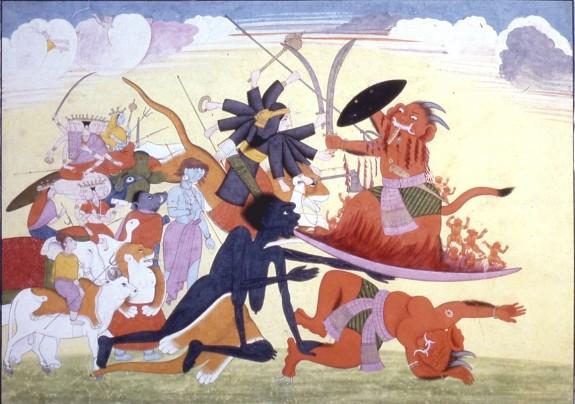 Kali Conquers Raktabija