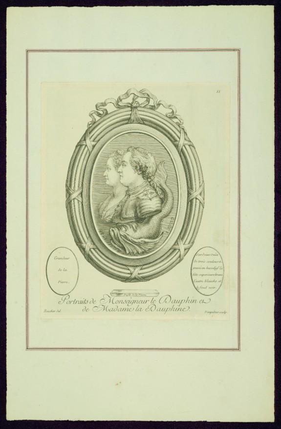 Portraits of Monseigneur le Dauphin and of Madame la Dauphine, from Madame de Pompadour's