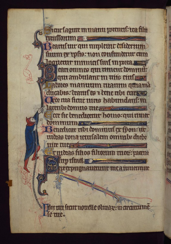 Leaf from a Book of Hours: Scribal Error Corrected