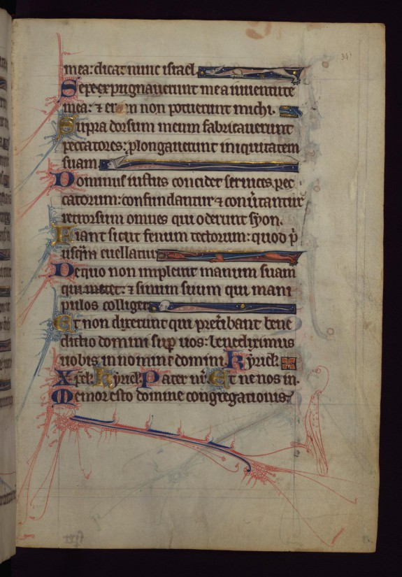 Leaf from Hours and Psalter