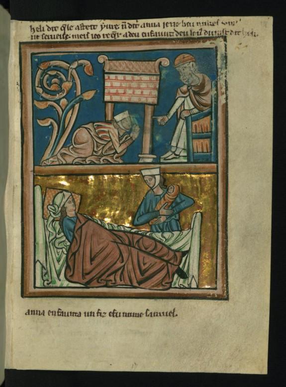 Top: Hannah Prays in the Temple (1 Samuel 1:9-17)