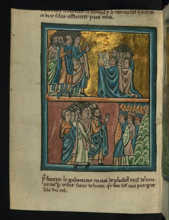 Top: The Gibeonites Make Peace (Joshua 9:3-15)