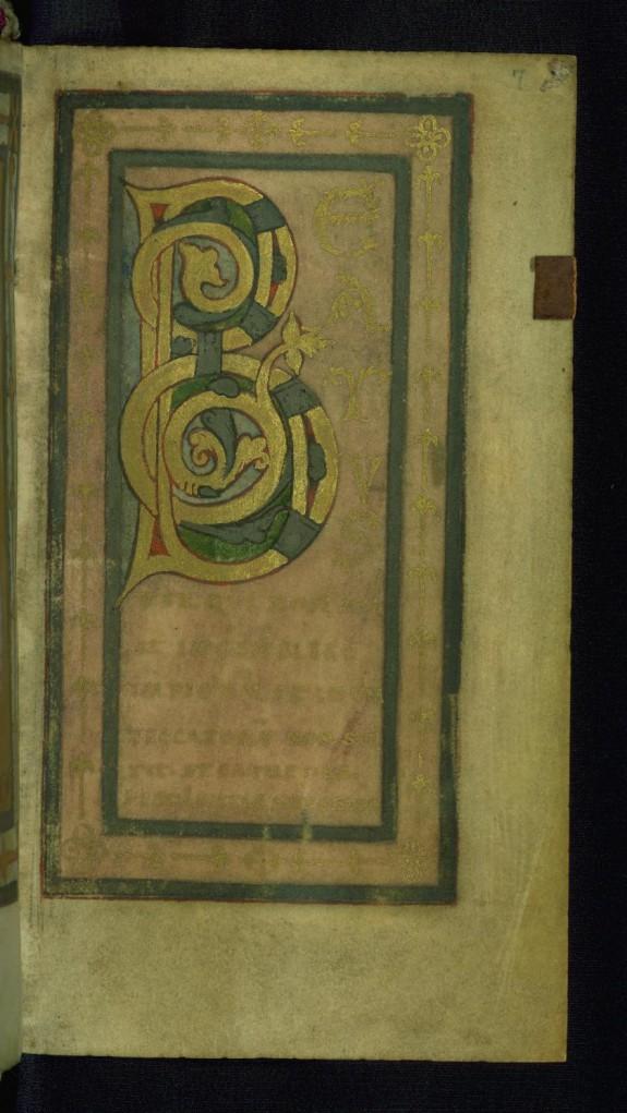 Initial B (Beatus vir)