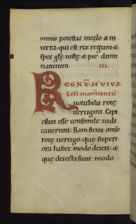 Inhabited initial R with dragon