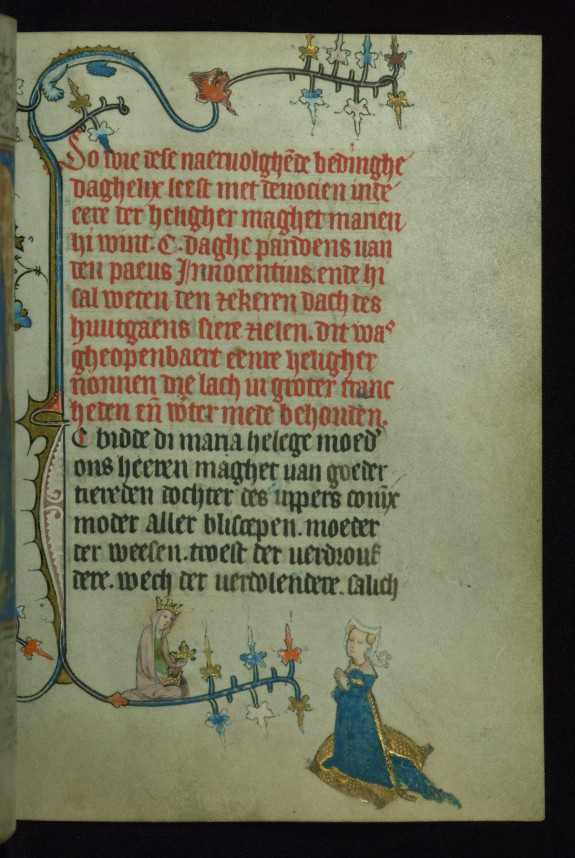 Leaf from Book of Hours of Daniel Rym and Elisabeth van Munte