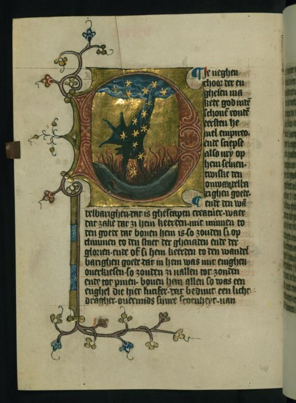 Leaf from Duke Albrecht's Table of Christian Faith: The Fall of Satan