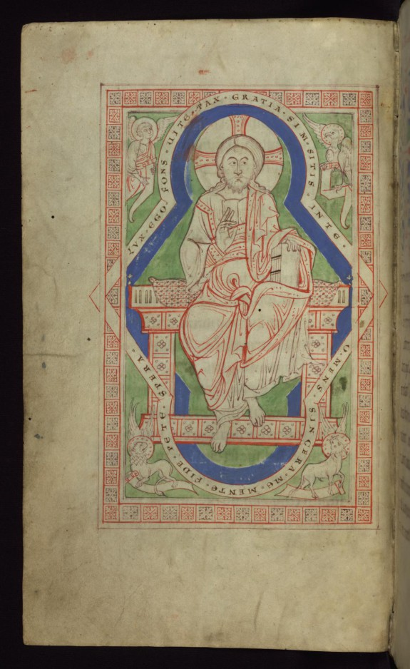 Leaf from the Melk Missal: Christ in Majesty
