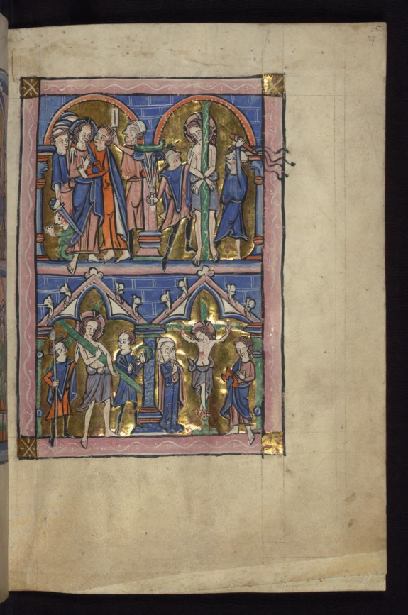 Above: Betrayal/Flagellation; Below: Carrying the Cross/Crucifixion