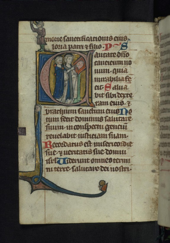 Initial C with two clerics singing