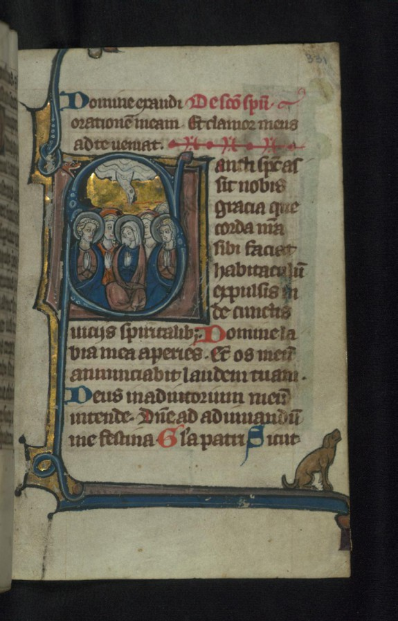 Initial S with Pentecost