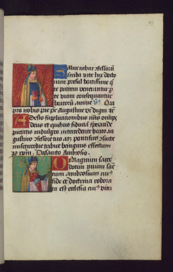 Saint Augustine with Saint Ambrose Below