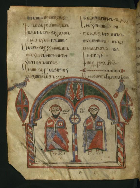 Evangelists Matthew and Mark Standing