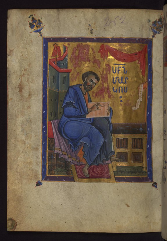 Evangelist Mark Seated Writing