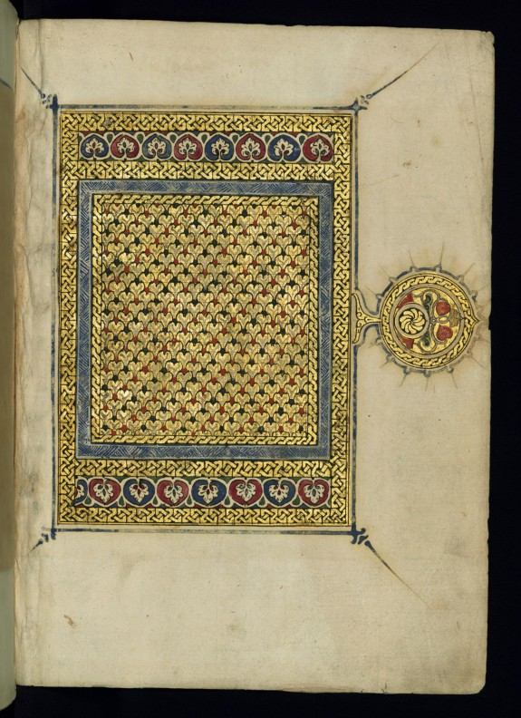 Right Side of an Illuminated Double-page Frontispiece