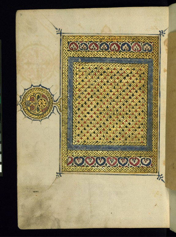 Left Side of an Illuminated Double-page Frontispiece