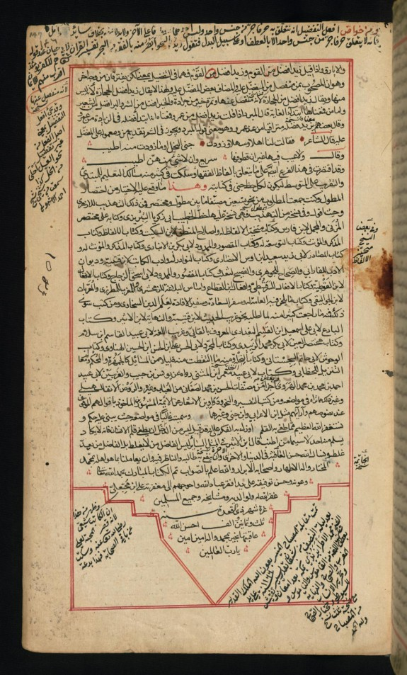 Colophon with Later Notations