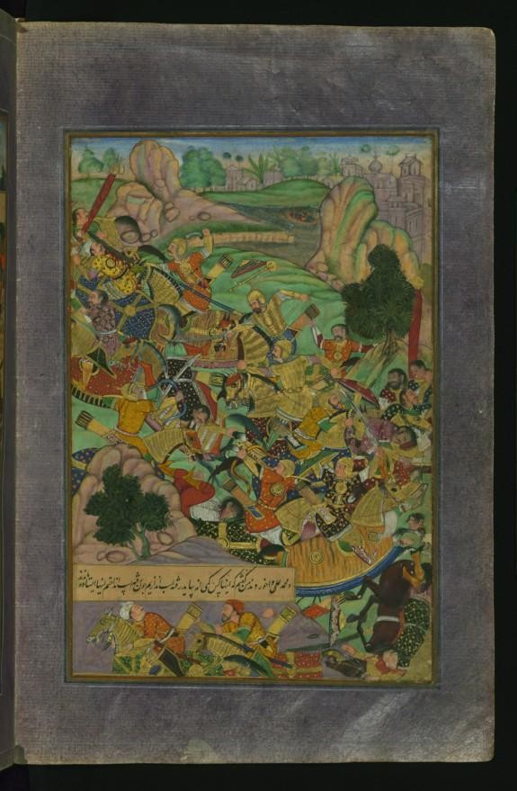 Babur Confronting his Enemies