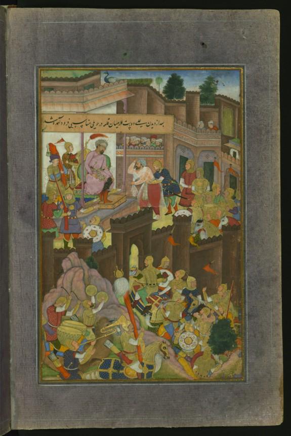 'Ali Dust Taghayi Paying Homage to Babur