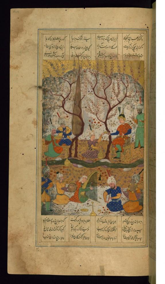 Bahram Gur Enthroned after Killing Two Lions