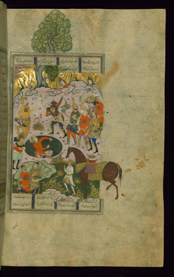 Rustam Rescues Bizhan from the Well