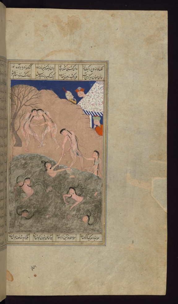 Alexander the Great and His Men Watch Naked Girls Swim in the Sea of China