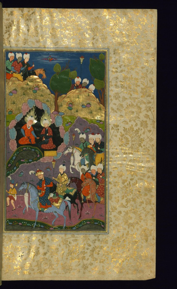 Alexander the Great at the Fountain of Life with the Prophets Khidr and Ilyas