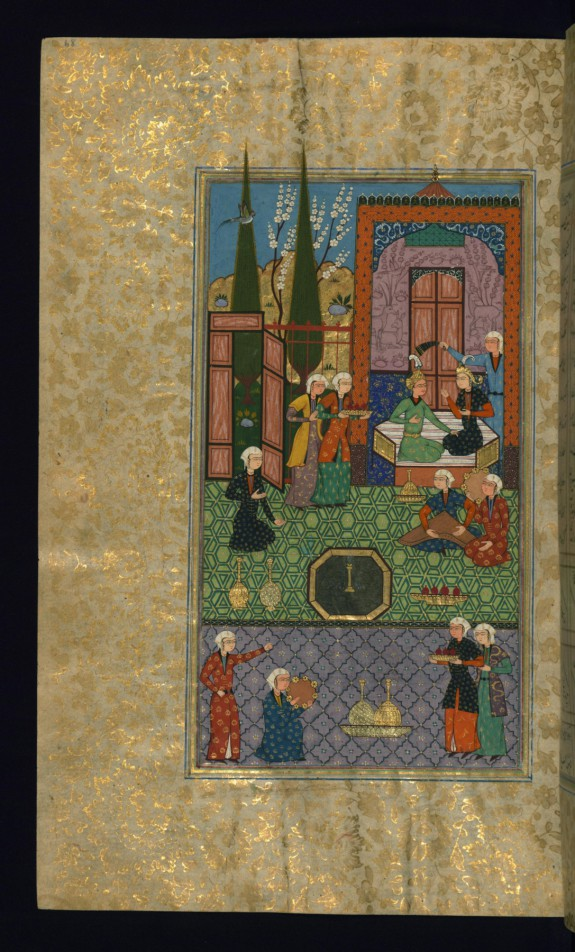 Khusraw and Shirin Enthroned