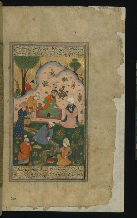 Khusraw Discusses his Dream with Buzurg Umid