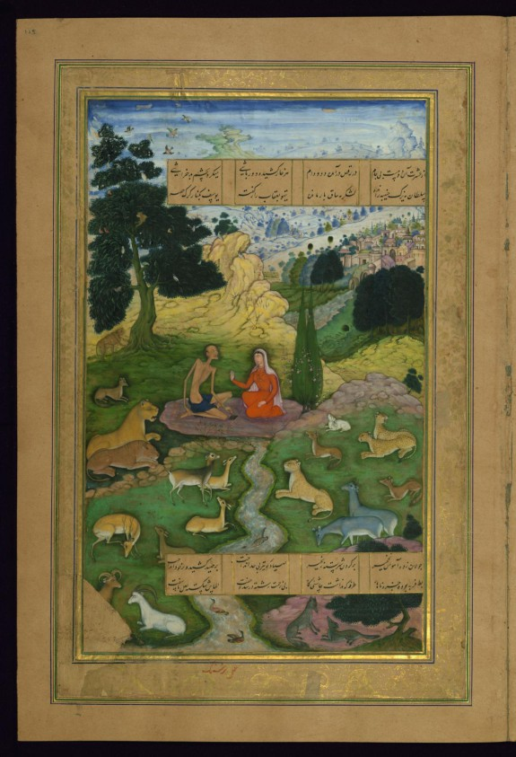 Laylá Visits Majnun in the Wilderness