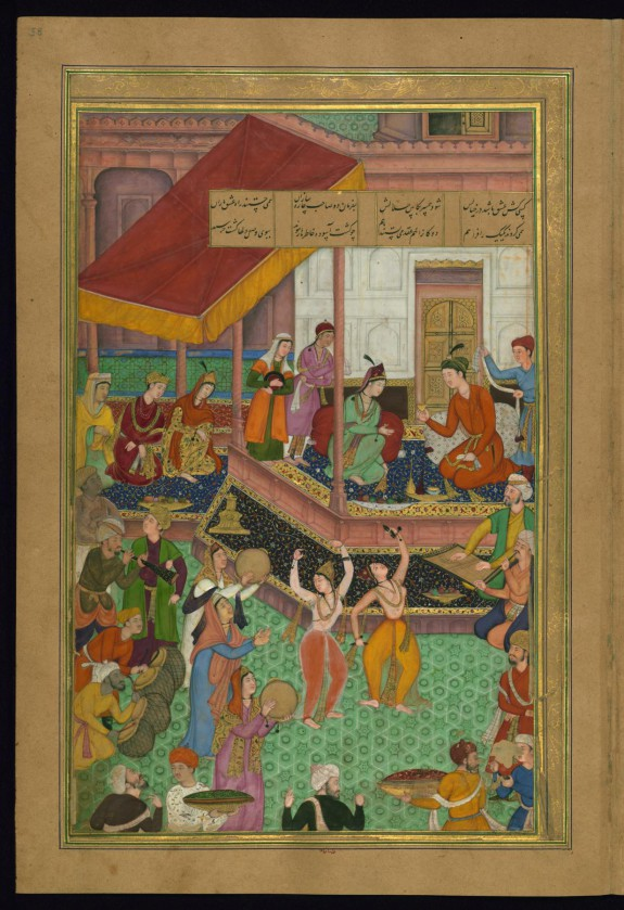 Khusraw and Shirin Preside Over the Wedding of Youths