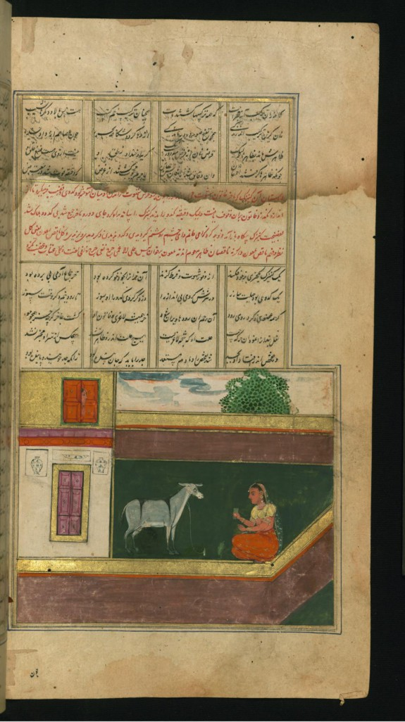 A Maid, Who Used to Sleep with a Donkey, Pretends to Feed the Animal