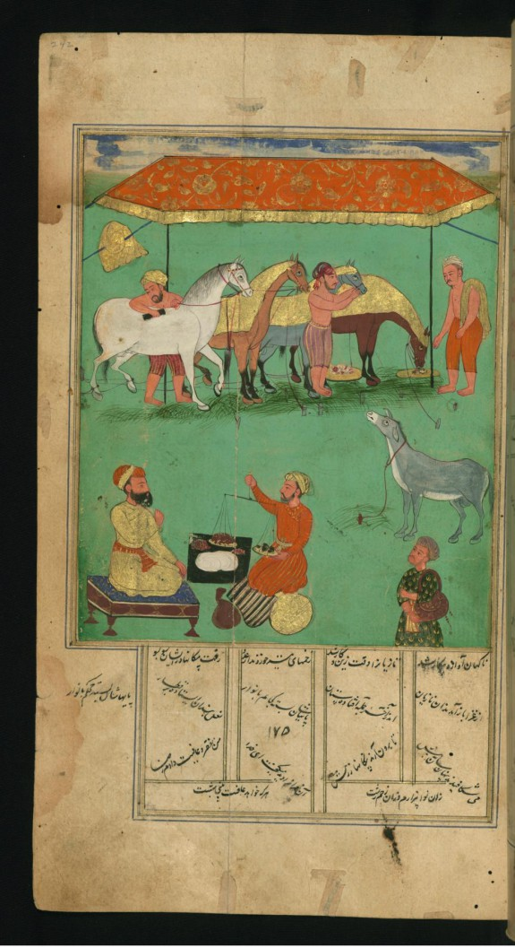 A Woodcutter's Miserable Donkey who Envies the King's Horses, Fed with Delicious Grain