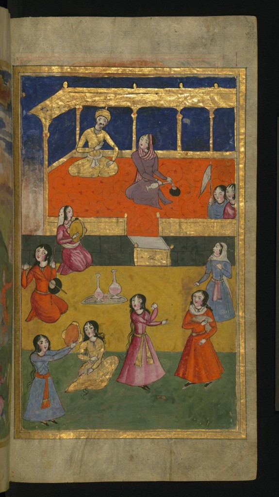 A Court Scene with Musicians and Dancers