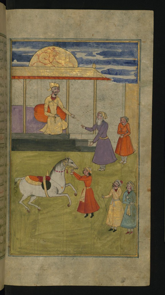 A King Gives a Purse of Gold to One of his Servants