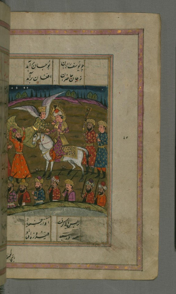 Joseph, on Horseback, is Offered an Apple by the Archangel Gabriel and Dies