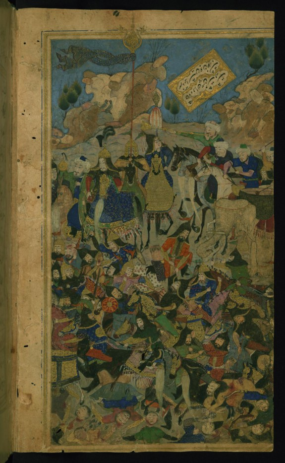 Timur Defeating the Khan of the Kipchaqs